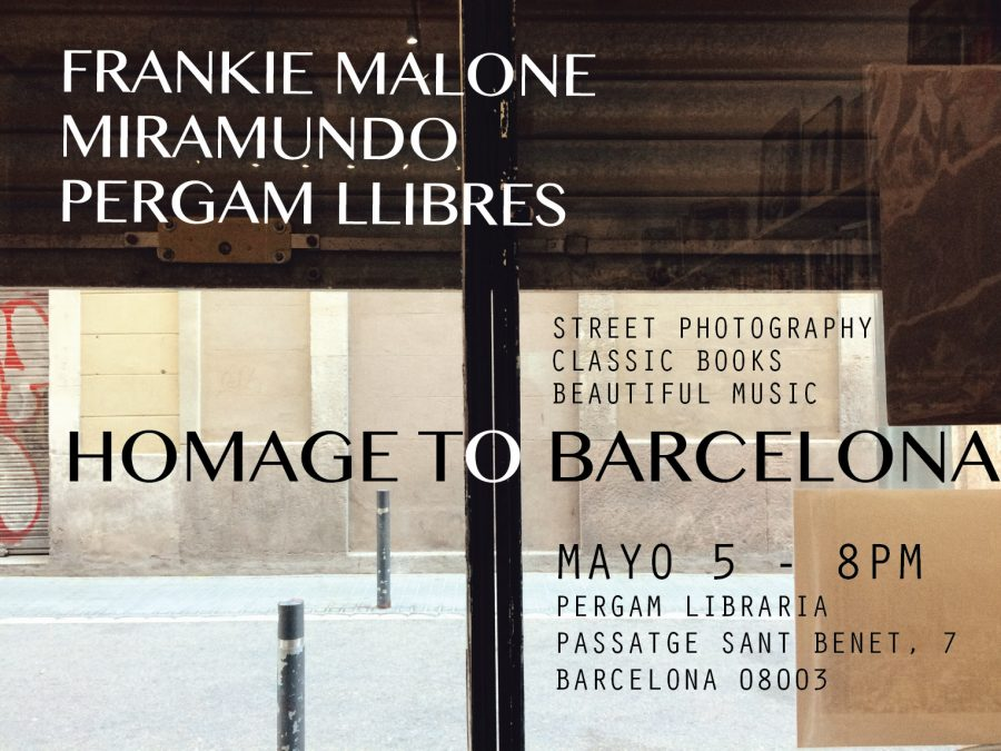 Flyer for an exhibition in Pergam Bookshop, Barcelona