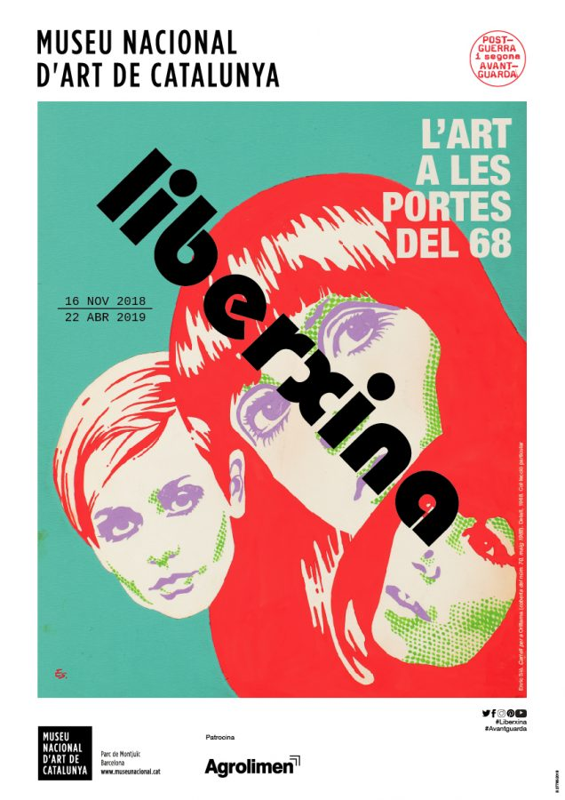 My latest work, a poster for the current exhibition Liberxina at the Museu Nacional d'Art de Catalunya